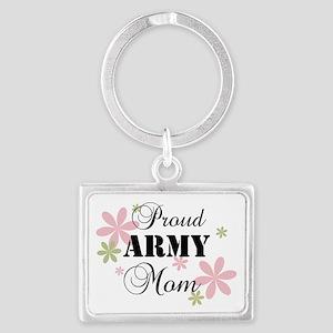 Army Mom [fl] Landscape Keychain